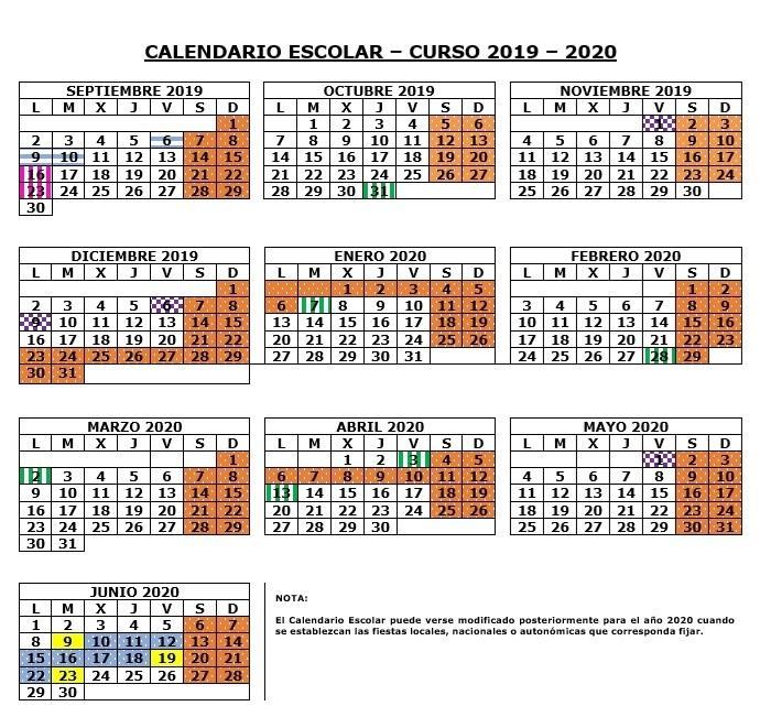 Calendario Laboral 2020 Sevilla.Calendario Escolar Colegio Lope De Vega